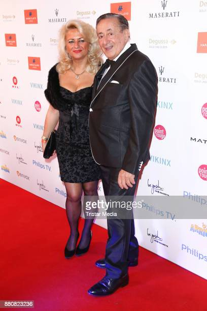 Richard Lugner and guest attend the Movie Meets Media event 2017 at Hotel Atlantic Kempinski on November 27 2017 in Hamburg Germany