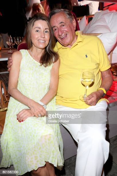 Richard Lugner and his girlfriend Andrea during the Movie meets Media Party during the Munich Film Festival on June 26, 2017 in Munich, Germany.