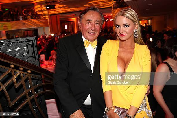 Richard Lugner and his wife Cathy 'Spatzi' Lugner during the German Filmball 2015 at Hotel Bayerischer Hof on January 17 2015 in Munich Germany