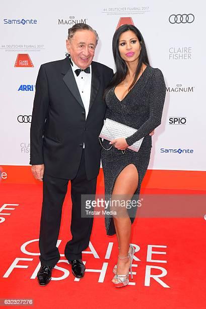 Richard Lugner and Nina Bruckner attend the German Film Ball 2017 at Hotel Bayerischer Hof on January 21 2017 in Munich Germany