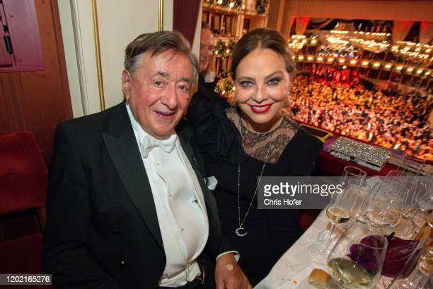 Richard Lugner and Ornella Muti during the Opera Ball Vienna at Vienna State Opera on February 20 2020 in Vienna Austria