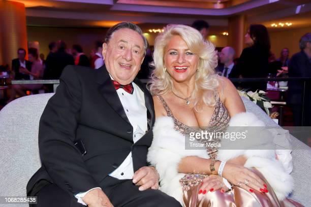 Richard Lugner and Sonja Schoenanger attend the Movie Meets Media night at Grand ElysÈe Hamburg on December 3 2018 in Hamburg Germany