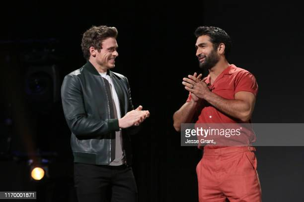 Richard Madden and Kumail Nanjiani of 'The Eternals' took part today in the Walt Disney Studios presentation at Disney's D23 EXPO 2019 in Anaheim,...