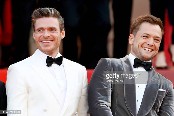 """Richard Madden and Taron Egerton attend the screening of """"Rocketman"""" during the 72nd annual Cannes Film Festival on May 16, 2019 in Cannes, France."""