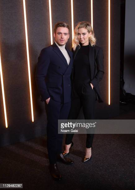 Richard Madden and Vanessa Kirby attend the BOSS Womenswear Menswear fashion show during New York Fashion Week on February 13 2019 in New York City