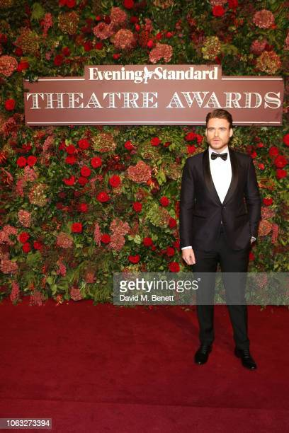 Richard Madden arrives at The 64th Evening Standard Theatre Awards at the Theatre Royal, Drury Lane, on November 18, 2018 in London, England.