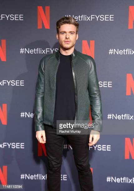 """Richard Madden attends Netflix's """"Bodyguard"""" screening & panel at Raleigh Studios on May 09, 2019 in Los Angeles, California."""