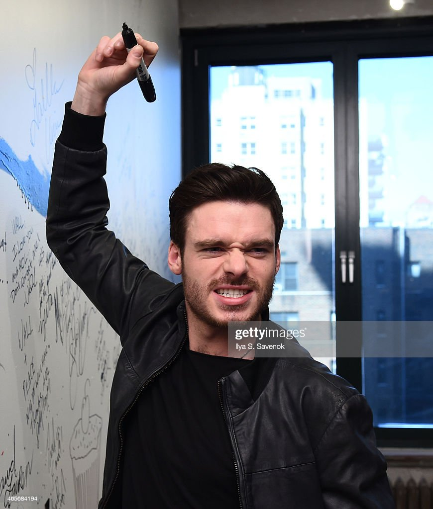 Richard Madden attends the AOL BUILD Speaker Series: Lily James And Richard Madden Discuss Their Film 'Cinderella' at AOL Studios In New York on March 9, 2015 in New York City.