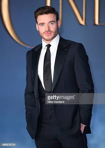 Richard Madden attends the UK Premiere of 'Cinderella' at Odeon Leicester Square on March 19 2015 in London England