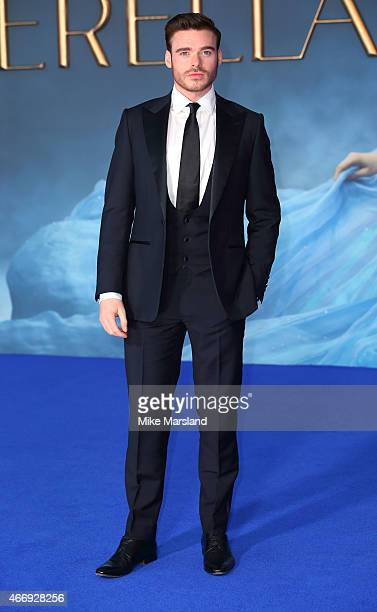 Richard Madden attends the UK Premiere of Cinderella at Odeon Leicester Square on March 19 2015 in London England