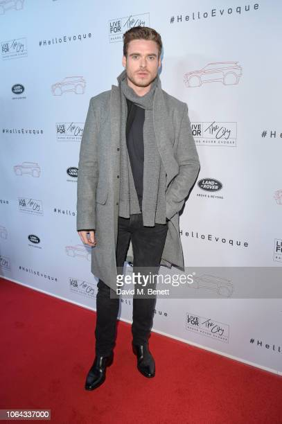Richard Madden attends the World Premiere of the new Range Rover Evoque at The Old Truman Brewery on November 22 2018 in London England