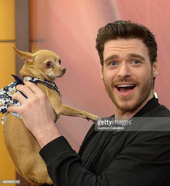 Richard Madden is on the set of Despierta America to promote the film 'Cinderella'at Univision Studios on March 12 2015 in Miami Florida