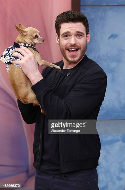 Richard Madden is seen on the set of Despierta America to promote the film 'Cinderella' at Univision Studios on March 12 2015 in Miami Florida