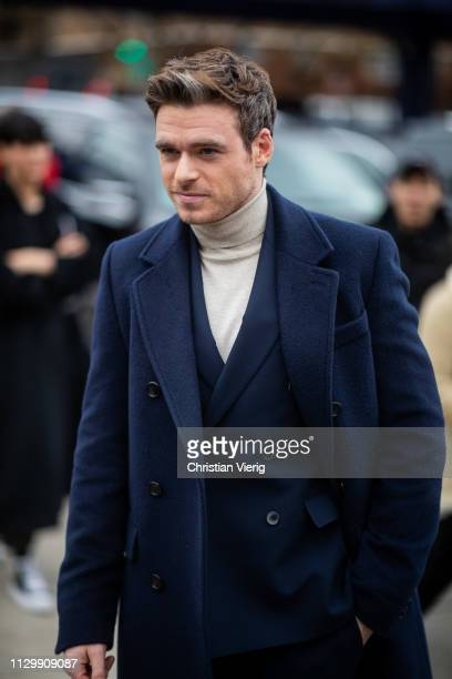 Richard Madden is seen outside Boss during New York Fashion Week Autumn Winter 2019 on February 13 2019 in New York City