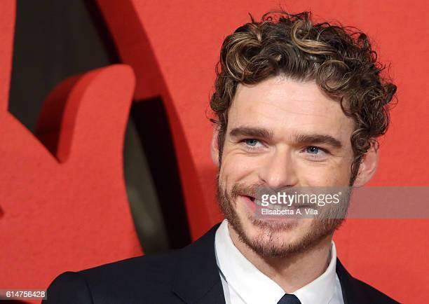 Richard Madden walks a red carpet for 'I Medici' at Palazzo Vecchio on October 14 2016 in Florence Italy