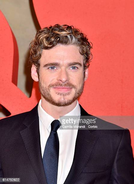 Richard Madden walks a red carpet for 'I Medici' on October 14 2016 in Florence Italy