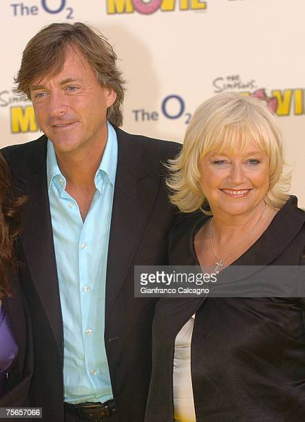 Richard Madeley and Judy Finnigan arriving for the Premiere of The Simpsons Movie at the O2 Greenwich July 25 2007 in London England
