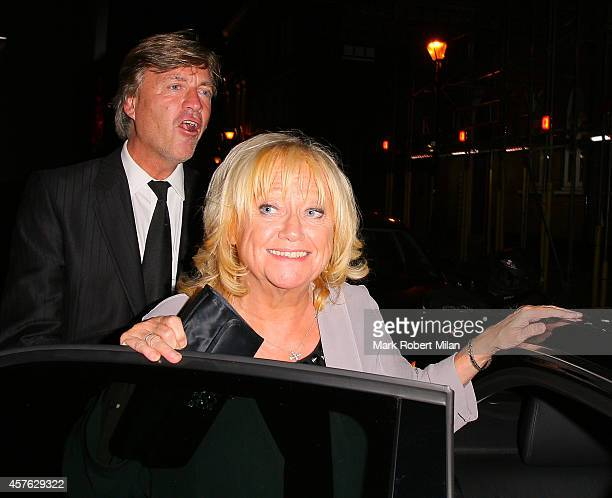 Richard Madeley and Judy Finnigan at the Ivy Club on October 21 2014 in London England