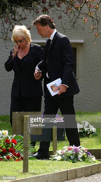 Richard Madeley and Judy Finnigan attend the Funeral of Caron Keating following her death from breast cancer last week at Hever Church in Edenbridge...