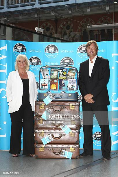 Richard Madeley and Judy Finnigan launch their new WH Smith Richard And Judy book club at St Pancras station on September 1 2010 in London England