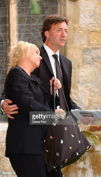 Richard Madeley and Judy Finnigan leave the Funeral of Caron Keating following her death from breast cancer last week at Hever Church in Edenbridge...