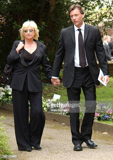 Richard Madeley Judy Finnigan Attend The Funeral Of Caron Keating At Herver Castle In Kent
