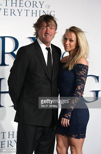 Richard Madely and Chloe Madely attend the UK Premiere of 'The Theory Of Everything' at Odeon Leicester Square on December 9 2014 in London England