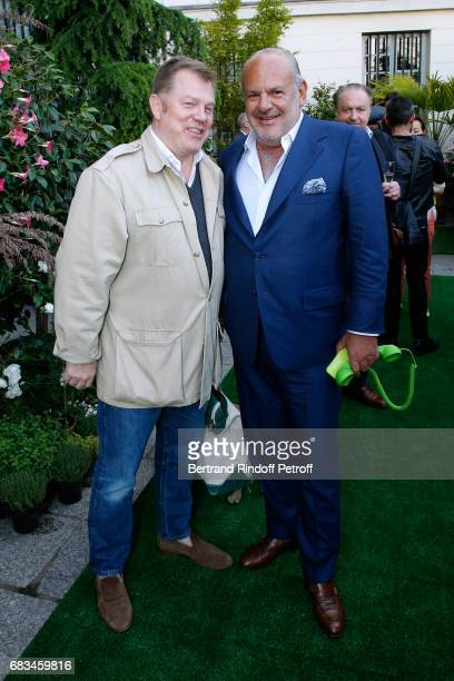 Richard MakinPoole and Maurice Amon attend the 'The Garden of Peter Marino' Book Signing at 'Moulie Flowers' on May 15 2017 in Paris France Preface...