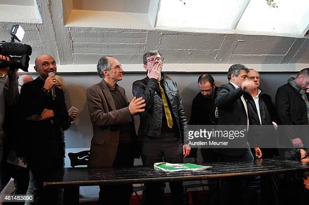 Richard Malka Charlie Hebdo lawyer Charlie Hebdo editor in chief Gerard Briard Charlie Hebdo cartoonist Renald Luzier aka Luz and Patrick Pelloux...
