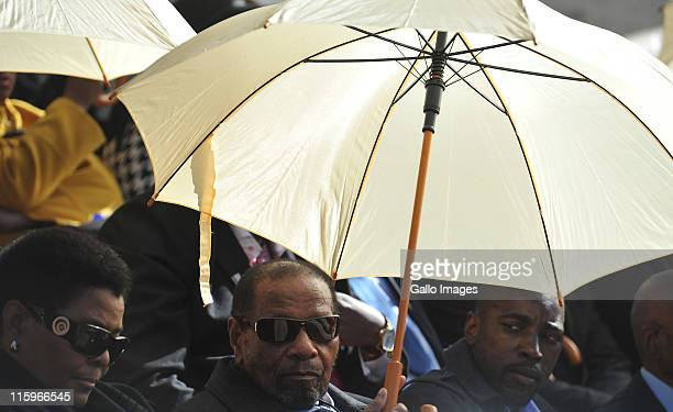 Richard Maponya during the funeral service of Albertina Sisulu at the Orlando Stadium on June 11 2011 in Johannesburg South Africa ANC stalwart...