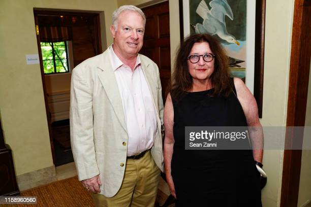 Richard Martin and Trish Foley attend A Country House Gathering to benefit Preservation Long Island on June 28 2019 in Locust Valley New York