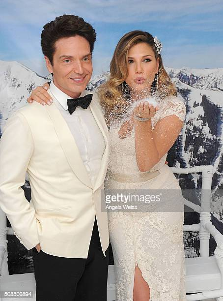 Richard Marx and Daisy Fuentes attend a Martin Katz designed event celebrating their wedding in the hotel's 'Penthouse Inspired by Vivienne Westwood'...