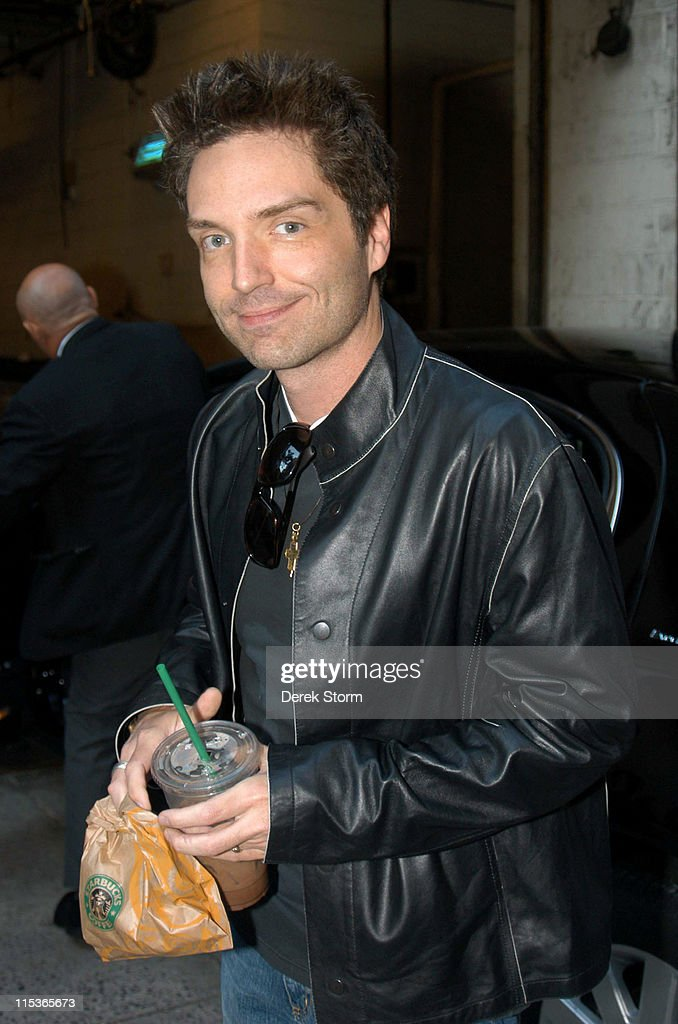 """Victoria Gotti and Richard Marx Visit """"Live with Regis & Kelly"""" - August 9, 2004"""