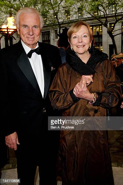 Richard McKenzie and Ava Astaire attend the launch night of 'Top Hat' at Aldwych Theatre on May 9 2012 in London England