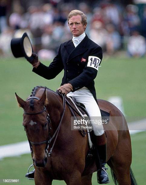 Richard Meade ridiing Kilcashel during the dressage stge of the Olympic Eventing Team Selection Trials at Castle Ashby circa June 1984