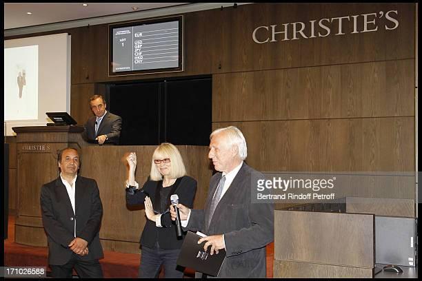 Richard Melloul Professor Alain Deloche at Christie's Auction Of Richard Melloul Photographs In Benefit Of Association La Chaine De L'Espoir Presided...