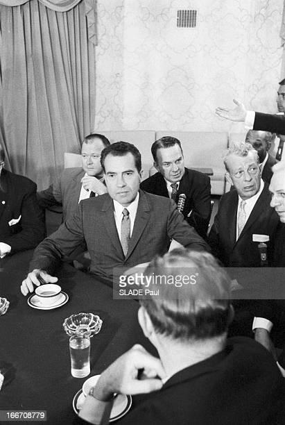 Richard Milhous Nixon At The Republican Convention For The 1960 Presidential Election Aux ÉtatsUnis à Chicago du 25 au 28 juillet 1960 lors de la...