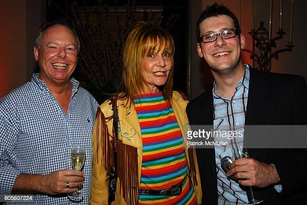 Richard Minearts Janet Charlton and David Lasky attend ETRO and Perrier Jouet Celebrate The Launch of Patrick McMullan's Book KISS KISS at Chateau...