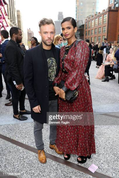 Richard Moore and Ramla Ali attend the front row for Coach 1941 during New York Fashion Week on September 10 2019 in New York City
