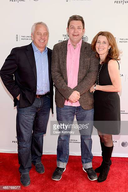 "Richard Moore, Greg LeMond and Kathy LeMond attend the ""Slaying The Badger"" Premiere during the 2014 Tribeca Film Festival at the SVA Theater on..."