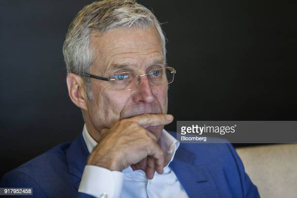 Richard Morin chief executive officer of Pakistan Stock Exchange listens during an interview in Karachi Pakistan on Thursday Feb 8 2018 Beefing up...
