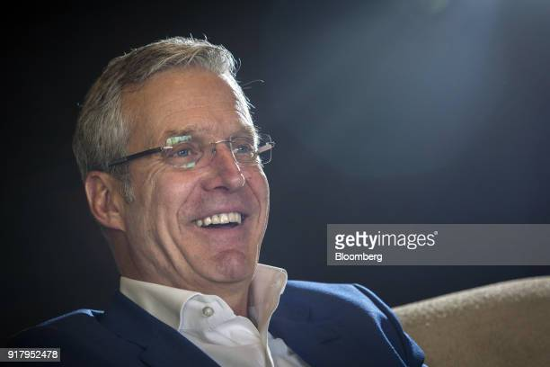 Richard Morin chief executive officer of Pakistan Stock Exchange reacts during an interview in Karachi Pakistan on Thursday Feb 8 2018 Beefing up...