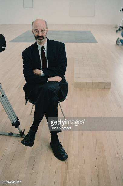 Richard Morphet, Keeper of The Modern Collection at the Tate Gallery, during the filming of 'Upholding The Bricks' documentary at The Tate Gallery,...