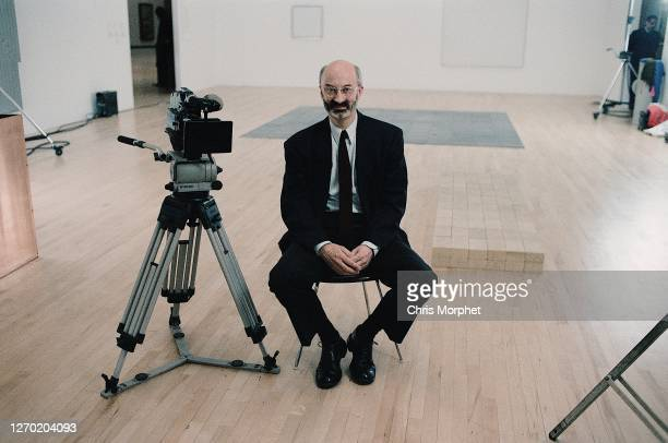 Richard Morphet, Keeper of The Modern Collection at the Tate Gallery, next to him is an Aaton 16 film camera on Vinten tripod.during the filming of...