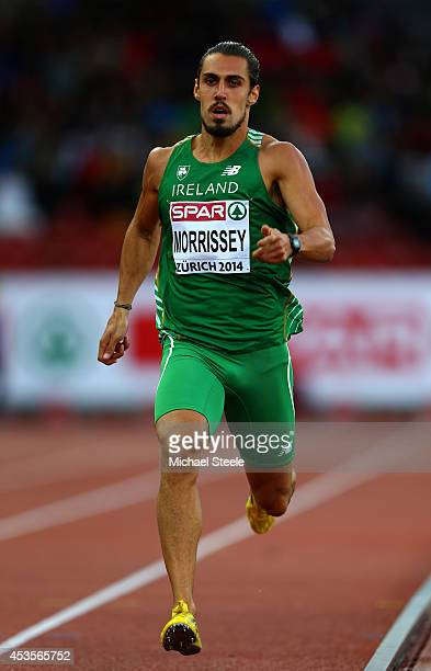 Richard Morrissey of the Republic of Ireland competes in the Men's 400 metres semifinal during day two of the 22nd European Athletics Championships...