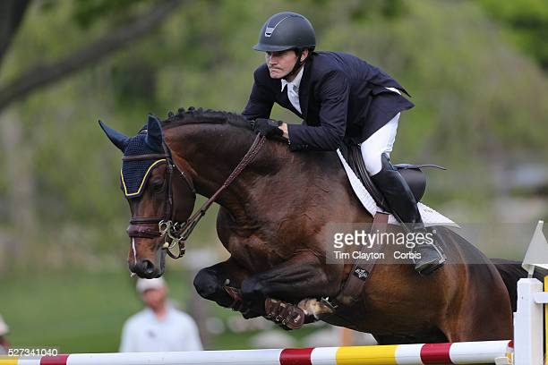 Richard Neal riding Quadam in action during the $100000 Empire State Grand Prix presented by the Kincade Group during the Old Salem Farm Spring Horse...