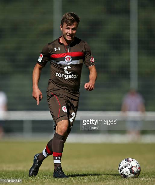 Richard Neudecker of St Pauli controls the ball during the preseason friendly match between SV Eutin 08 and FC St Pauli on July 1 2018 in Eutin...
