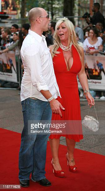 Richard Newman and Lea Walker during You Me and Dupree London Premiere Outside Arrivals at Odeon in London Great Britain