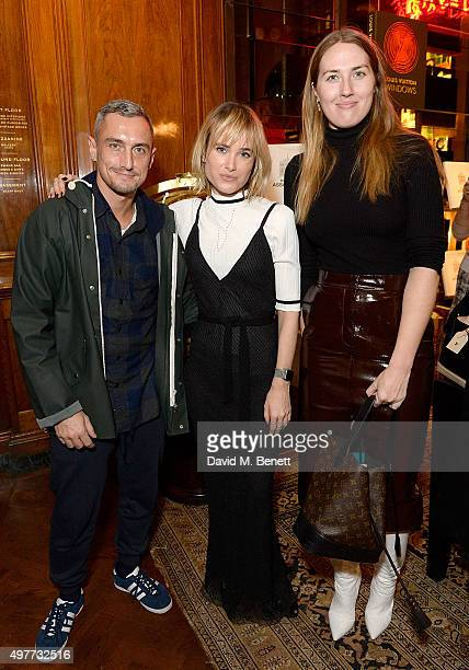 Richard Nicoll Julia Hobbs and Naomi Smart attend the Louis Vuitton Windows book launch at Maison Assouline on November 18 2015 in London England