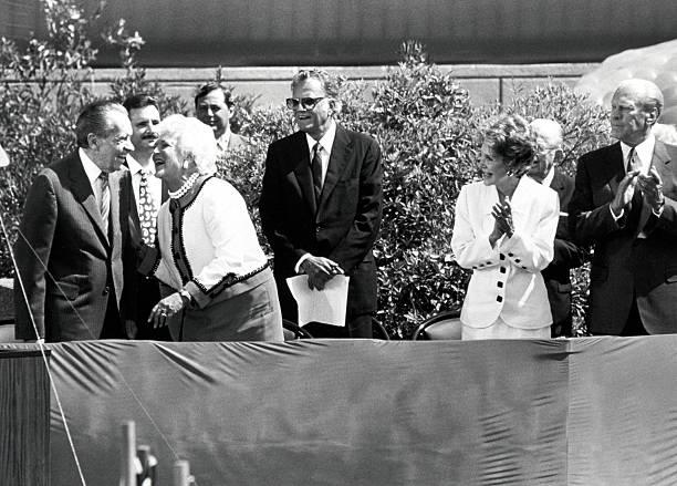 Richard Nixon Barbara Bush Nancy Reagan And Gerald Ford